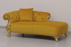Oceano dormeuse, Barock-Stil Schlafcouch, mit Veredelungen in Gold und Silber