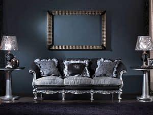 715 SOFA, 3-Sitzer, handgeschnitzt, Luxus klassischen Stil