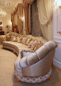 Aida corner sofa, Großes Ecksofa im klassischen Stil
