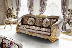 Amina Sofa, Klassisches Sofa mit abgerundeten Formen