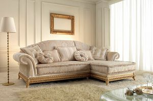 Anastasia, Klassisches Sofa mit Chaiselongue