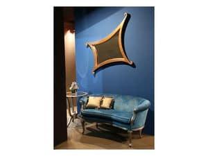 Art. 1618 Milo, Sofa Luxus klassisch, Samtbezug, für Lobby
