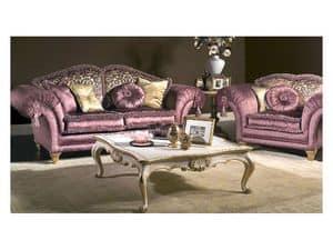 Art. MA 43 Majestic, Klassische Couch von großer Eleganz, reich an kostbaren Details
