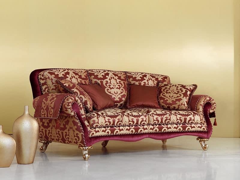 Camelia, Sofa in der klassischen Luxus-Stil, handgeschnitzten Beinen
