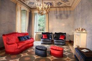 Club, Sofa mit gesteppter Polsterung, Luxus klassischen Stil