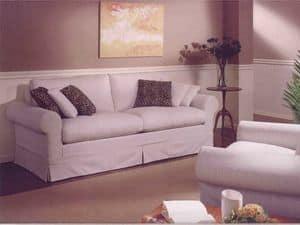 Copenhagen Sofa, Klassische Sofa für Wohnzimmer, mit abnehmbarem Stoff