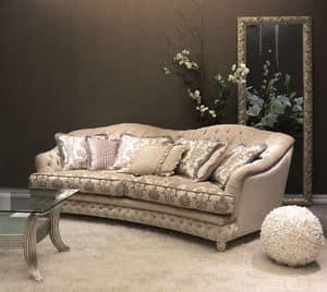 Denver Capitonnè Sofa, Gesteppte Schlaf für klassische Luxus-Wohnzimmer