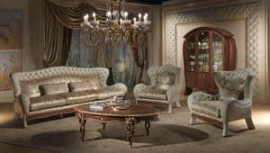 DI23 Vanity Sofa, Sofa mit 3 Plätzen, in klassischen Luxus