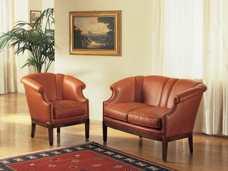 Emma Sofa, Luxus klassisches Sofa für Wohnzimmer und Hotel