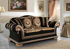 EMPORIO Sofa, Klassisches Sofa mit elegantem Stoff bezogen