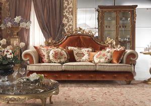 Esimia Sofa, Sofa mit Dekorationen von Hand gemacht