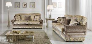 LIENZ, Sofa mit wichtigen klassischen Stoffen