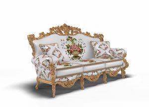 Luxor Sofa, Reich geschnitztes Sofa