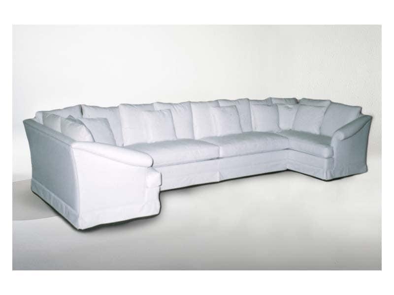 Marlene Angular Sofa, Ecksofa, klassischer Stil, Stoff