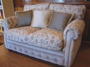 Melody, Klassisches Sofa für Wohnzimmer, komfortabel gepolstert