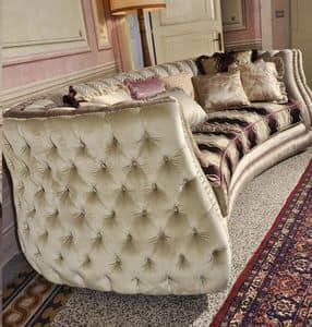 Michelle, Polsterstepp Sofa im klassischen Luxus-Stil