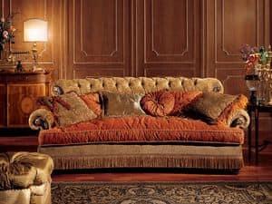 Nathalia Sofa, Sofa mit gesteppter Rückenlehne, klassischen Stil