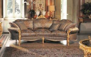 Opera 3-Sitzer-Sofa, Elegante drei Sitzer-Sofa, handgeschnitzten, die ihresgleichen sucht eindrucksvollen Verfeinerung bietet