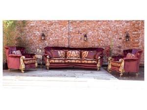 Orchidea, Sofa klassischen Luxus, Blattgold Oberflächen