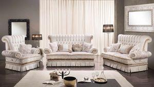 QUEEN, Klassisches Sofa mit 2 oder 3 Sitzen