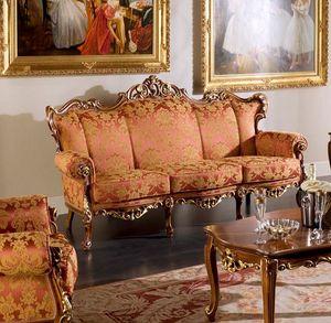 Regency 3-Sitzer-Sofa, Klassisches Sofa mit Blumenstoff