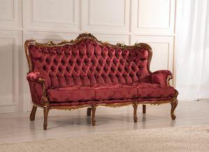 Rex 3-Sitzer-Sofa, Klassisches Sofa mit Capitonné-Polsterung