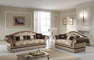 SAMIRA, 2- oder 3-Sitzer-Sofa mit abnehmbarer Rückenlehne