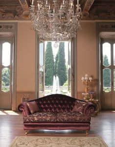 Segesta, Sofa mit geknöpften wieder für Wohnräume geeignet