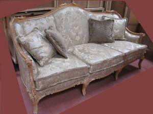 Sofa 4933, Klassisches geschnitztes Sofa