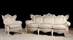 Stradivari Lounge Set, Klassisches Wohnzimmer mit wertvollen Materialien hergestellt
