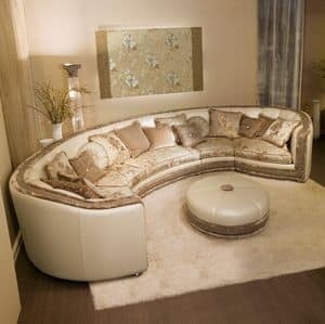 Venere, Corner klassischen Sofa in Original zeitgenössischen Stil