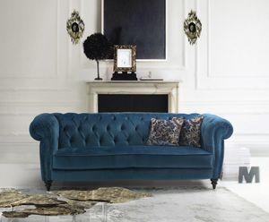 Vogue, Klassisches Sofa mit Samt bezogen