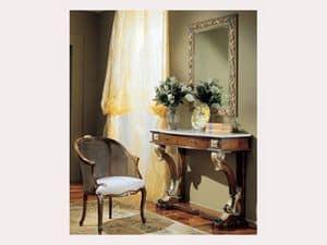 3270 MIRROR, Rechteckiger Spiegel mit Goldverzierung, zum klassischen Hotels