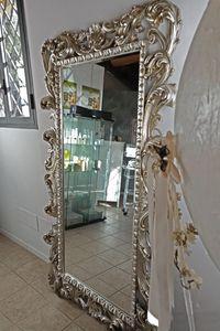 Loto großer, Rechteckiger Spiegel mit Blattgold Finish