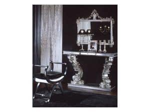 703 MIRROR, Klassische Spiegel mit Silber-Finish, für Wohnzwecke und Hotel