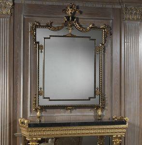 Art. 2095 Spiegel, Rechteckiger Spiegel mit geschnitztem Rahmen