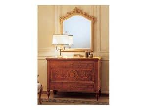 Art. 2165 '700 Italiano Maggiolini, Klassische Luxus-Spiegel, mit geschnitzten Rahmen, Blattgold