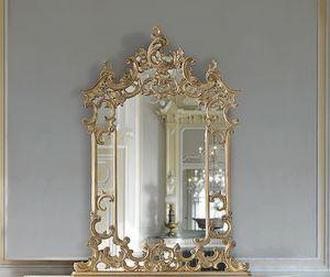 ART. 2950, Klassischer Spiegel mit Cornire und Intarsien