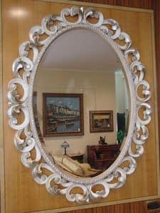 Art. 76/O, Ovalen Spiegel für das Haus, klassischen Stil, geschnitzten Rahmen