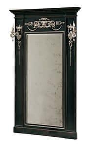 Canaletto RA.0844, Lacquared Spiegel mit eingelegten Verzierungen und Seitensäulen