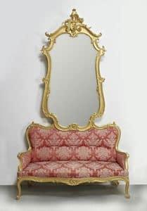 COUCH MIT SPIEGEL ART. SD 0012, Sofa mit Spiegel für den Eintritt in klassischen Luxus-Stil
