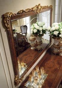 Donatello Spiegel, Klassische Spiegel, Rahmen geschnitzt und von Hand verziert, für jeden neoklassizistischen Stil Zimmer