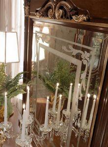 Luigi XVI Art. SPE03/LU/120, Von Hand verzierter Spiegel mit Relief in Goldoptik