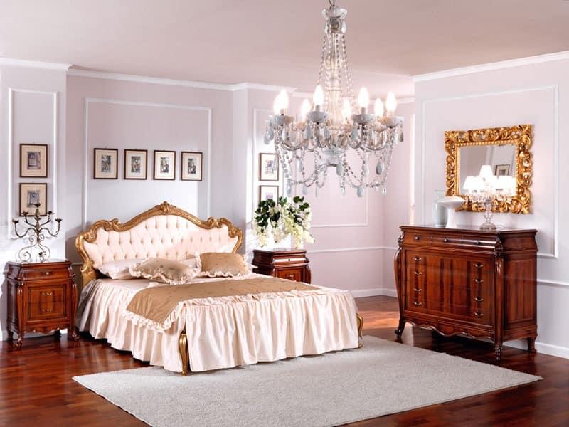 OLIMPIA B / Rechteckiger Spiegel, Klassischer Luxus Spiegel, in Holz, mit luxuriösen Finish