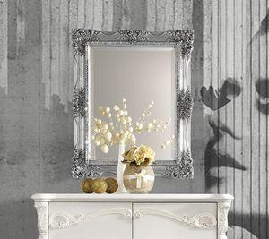 Puccini Art. 7620, Wandspiegel mit Blattsilberrahmen