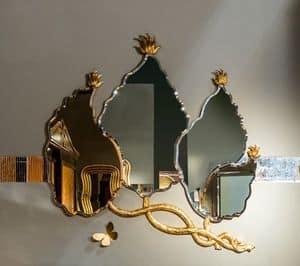 SP30 Spiegel, Blattform- Spiegel mit Blattgold -Finish