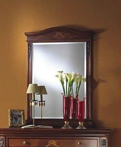 Voltaire Spiegel, Klassische Spiegel aus Holz mit geschliffenem Glas