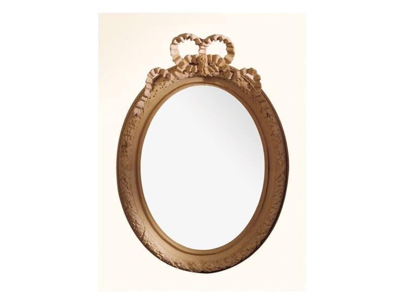 Wall Mirror art. 103, Spiegel mit Holzrahmen, im Stil Louis XVI