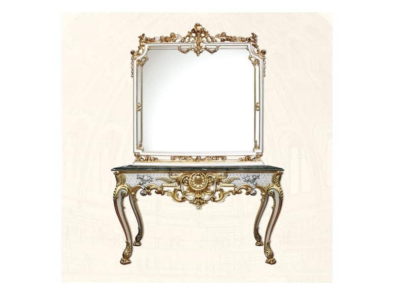 Wall Mirror art. 117/b, Platz Spiegel, Stil Louis XV
