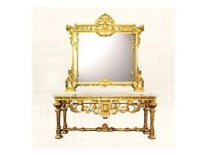 Wall Mirror art. 126/b, Große quadratische Spiegel, Stil Louis XIV